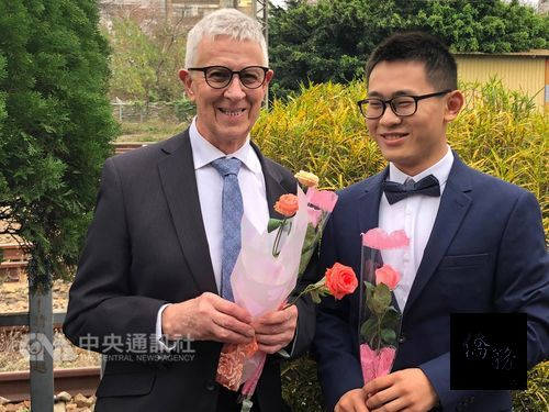 Taiwan, British gay couple, 51 years apart in age, wed amid blessings