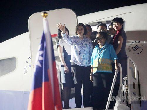 President Tsai arrives in Palau