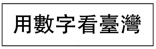 用數字看臺灣